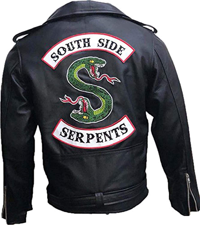 herren Riverdale Southside Serpents Jughead jones Biker Snake Faux leder jacke