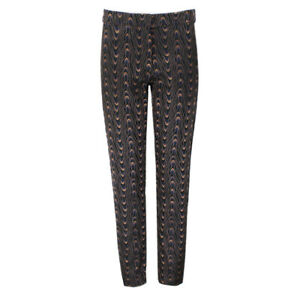 Dries-Van-Noten-Black-Copper-Moire-Jacquard-Trousers-Pants-FR36-UK8