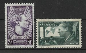 FRANCE-1937-J-MERMOZ-Pioneer-of-aviation-Complete-set-2-new-stamps-6862