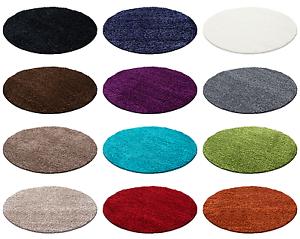 Tappeti rotondi Shaggy Shaggy per i colori soggiorno e le dimensioni ...