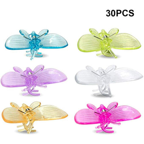 30x Orchid Plant Butterfly Support Clips Phalaenopsis House Gadget #M2R