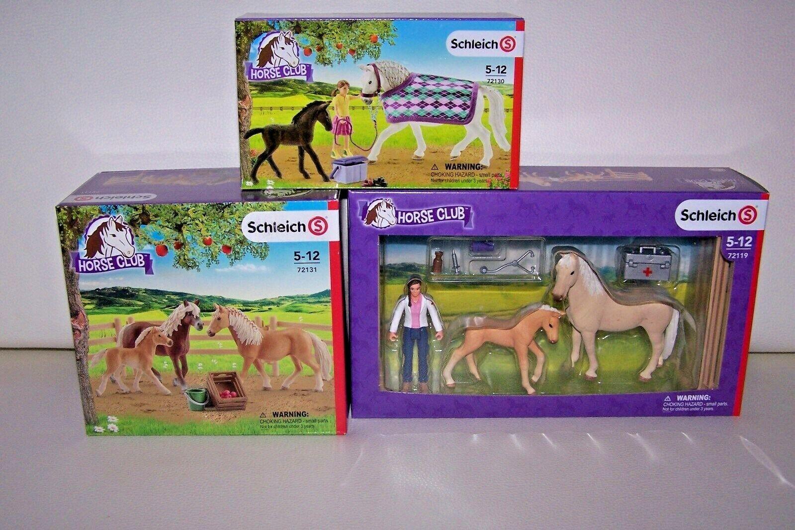 Schleich Horse Club 72119 72130 72131  3-teiliges Pferdeset-Konvolut  NEU OVP