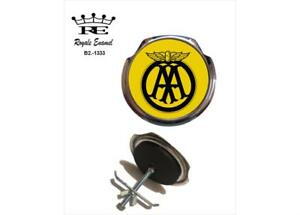 Provided Original Vintage Classic Aa Car Badge Silver Yellow Metal Automobilia Ture 100% Guarantee Automobilia Badges & Mascots