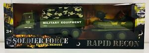 New-Design-Soldier-Force-Military-Army-Truck-amp-Tank-Deluxe-Playset-Camouflage