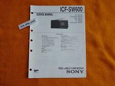 SERVICE MANUAL SONY ICF SW600 english Anleitung hifi Schaltplan