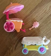 My Little Pony Cart Train Umbrella Ice Cream Stand Brush