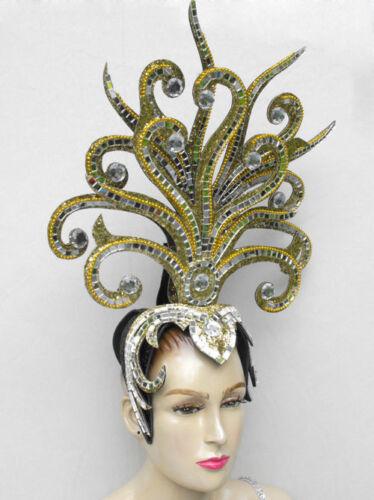 Da NeeNa Gold Medusa Drag Cabaret Showgirl Queen Headdress
