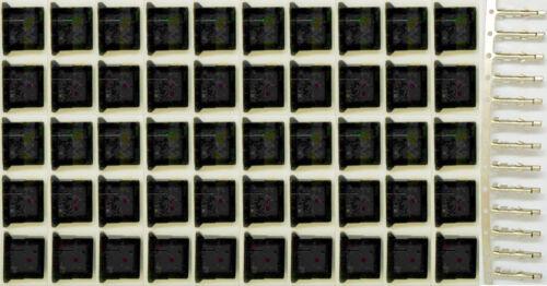 50 pcs ATX Connector Molex IDE 8981 5.08mm 4-Pin Male Housing Black Pins Spares