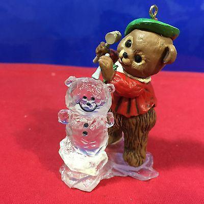 Hallmark Ornament The Ice Sculptor Bear 1981 NB1