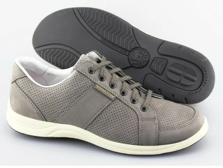 NEW Men's MEPHISTO Hero Perf Grey Leather Perforated Sneakers Size US 9.5 EUR 9