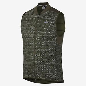 Mens Nike Aeroloft Flash Cargo Khaki Running Vest