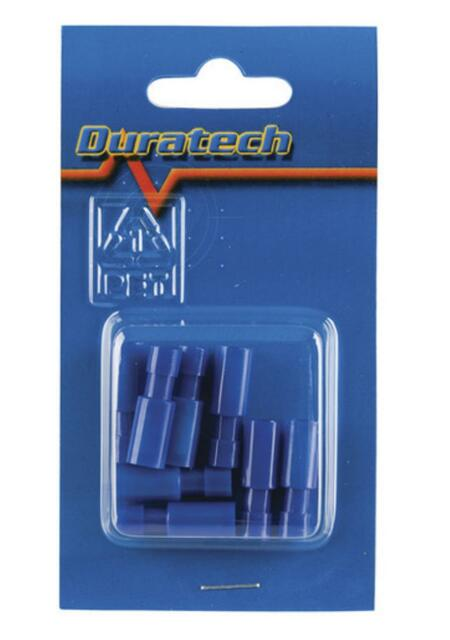 4mm Bullet Female Socket Blue 1.5mm to 2.5mm dia wire size Packet of 8 PT4602