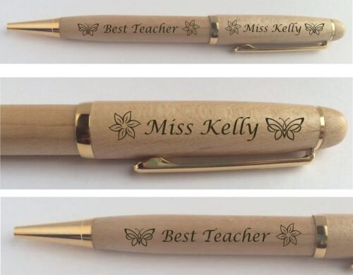PERSONALISED TEACHER GIFT ENGRAVED PEN SCHOOL PRESENT END OF TERM CHRISTMAS