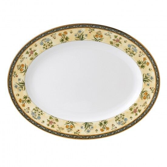 Wedgwood India 13.75  Oval Serving Platter Neuf avec étiquette
