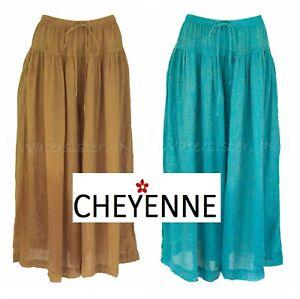 CHEYENNE-GB0848-Linen-Gauze-DROP-WAIST-PALAZZO-CROP-PANT-S-M-L-XL-2018-Colors