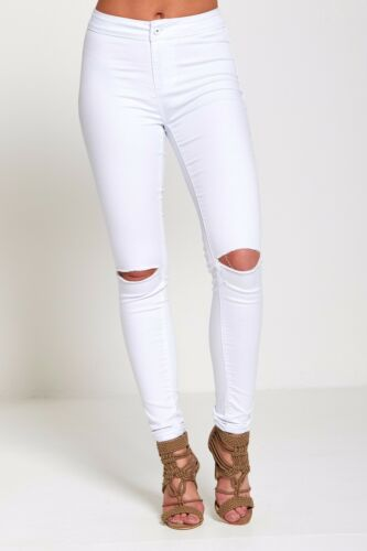 DIVADAMES WOMENS HIGH WAISTED STRETCHY SKINNYJEANS LADIES JEGGINGS PANTs 6 TO 22