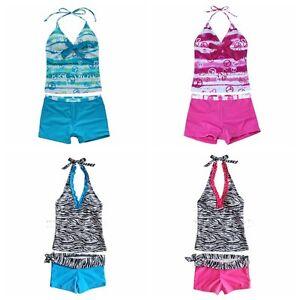 Girls-Children-Swimming-Swimwear-Swim-Costume-Tankini-Bathing-Suit-Age-8-16-BNWT