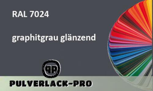 PULVERLACK RAL 7024 graphitgrau glänzend 500g  Beschichtungspulver PowderCoating