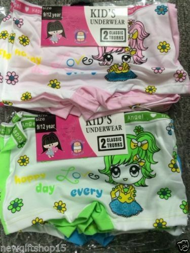 Ragazze 12 PAIA COTONE PANTS SLIP Principessa Designer Slip intimo 3-12 anni