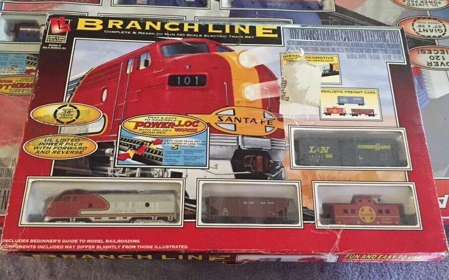 Life Like HO Branch Line Train Set Santa Fe 433-8607 Brand Nuovo Great Gift