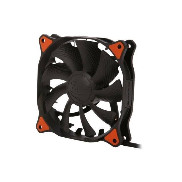 Cougar Vortex CF-V12HB 120mm Hydro Dynamic Bearing (Fluid) Case Fan (Black)