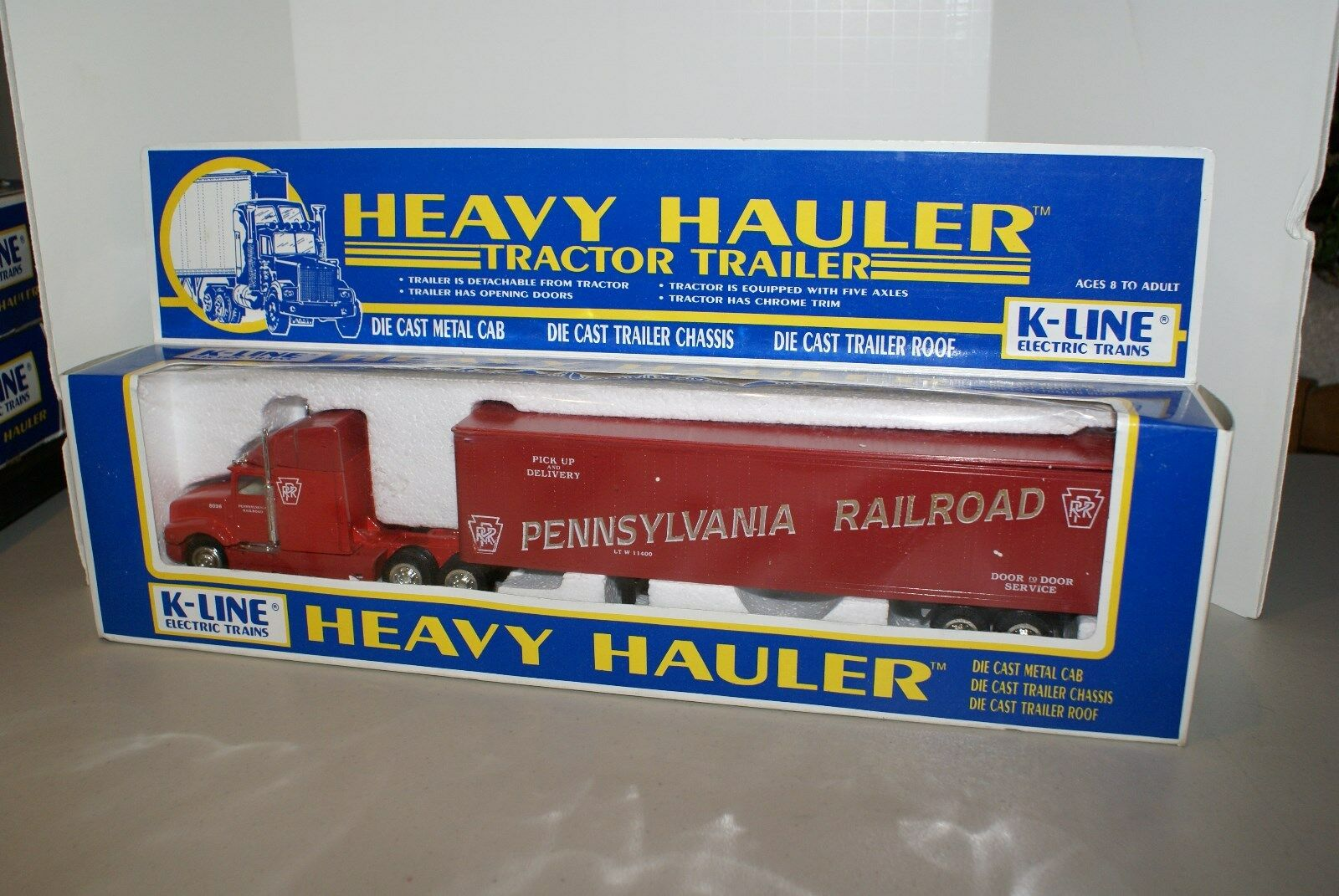 NEW IN BOX SET OF 4 K-LINE HEAVY HAULERS TRACTOR TRAILERS