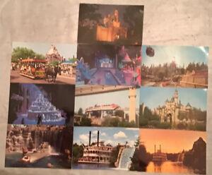 Vintage Disneyland Postcards; Magic Kingdom, LOT Of 10, Standard Size~Unused~VGC