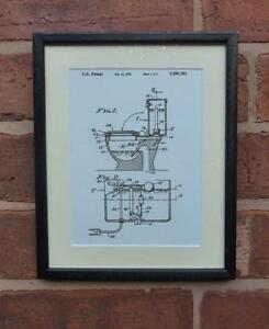 Usa Patent Drawing Bathroom Toilet Loo Cistern Flush