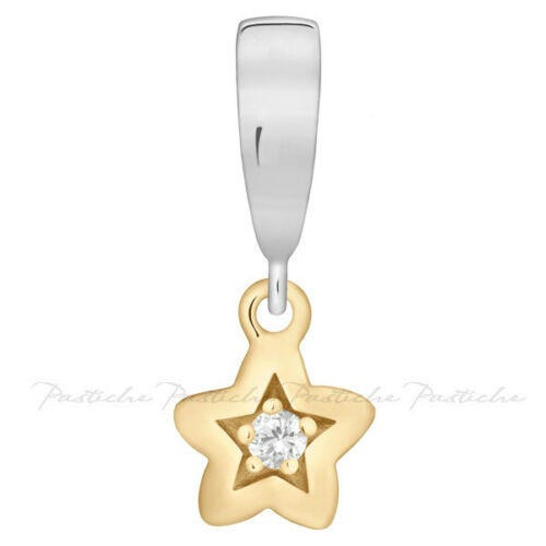 Pendant With Gold Vermeil Star CZ TP066CZG Lovelinks Bead Sterling Silver