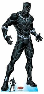 Black-Panther-Wakanda-039-s-Protector-Official-Marvel-Cardboard-Cutout-Free-Mini