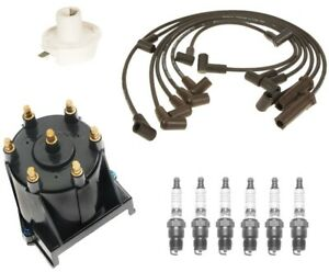 ACDelco Ignition Kit Distributor Rotor Cap Wire /& Spark Plugs for Chevy GMC V6