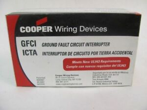 LOT OF (2) COOPER WIRING DEVICES GFCI DUPLEX RECEPTACLE