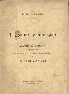 I salmi penitenziali raffronto con la versione in terza rima di dante alighieri ebay - Rima con finestra ...