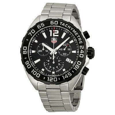 Tag Heuer Formula One  Chornograph Black Dial Stainless Steel Mens Watch