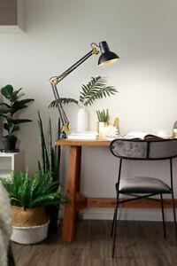Lampada Tavolo Architetto Studio Orientabile Metallo Colore Nero Perenz 4025 N