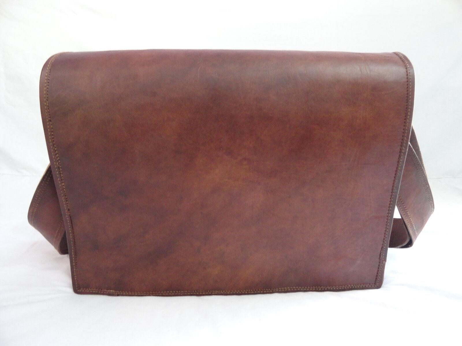 Brown Leather Messenger Bag Crossbody 17