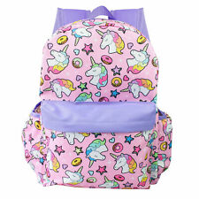 Unicorn Backpack Girls Large School Backpack Pink All Over Prints Star Donuts