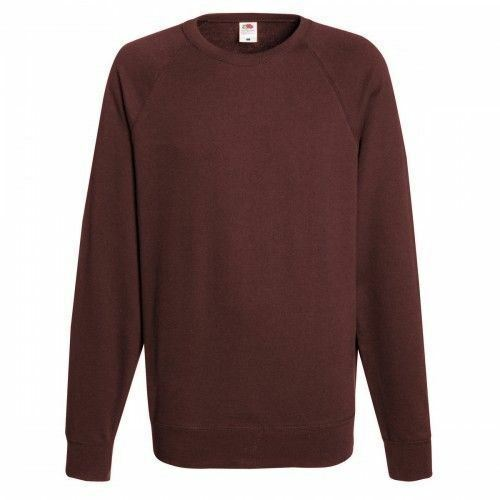 Adult jumper S M L XL 2XL Fruit Of The Loom Mens Lightweight Raglan Sweater