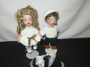 Vintage-Dolls-Choir-Singers-Shirley-Favela-Christmas-Y979