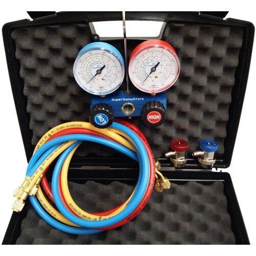 3S NEU Klimaanlage Monteurhilfe Kfz R134a R404A R407C R22 mit Schnellkupplung