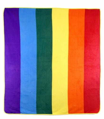Rainbow Gay Pride 50x60 Polar Fleece Blanket Throw Plush Wholesale 12