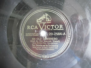 78rpm-10-034-RCA-Victor-An-Old-Sombrero-Tex-Beneke-20-2584-Dreamy-Lullaby-198-5AE