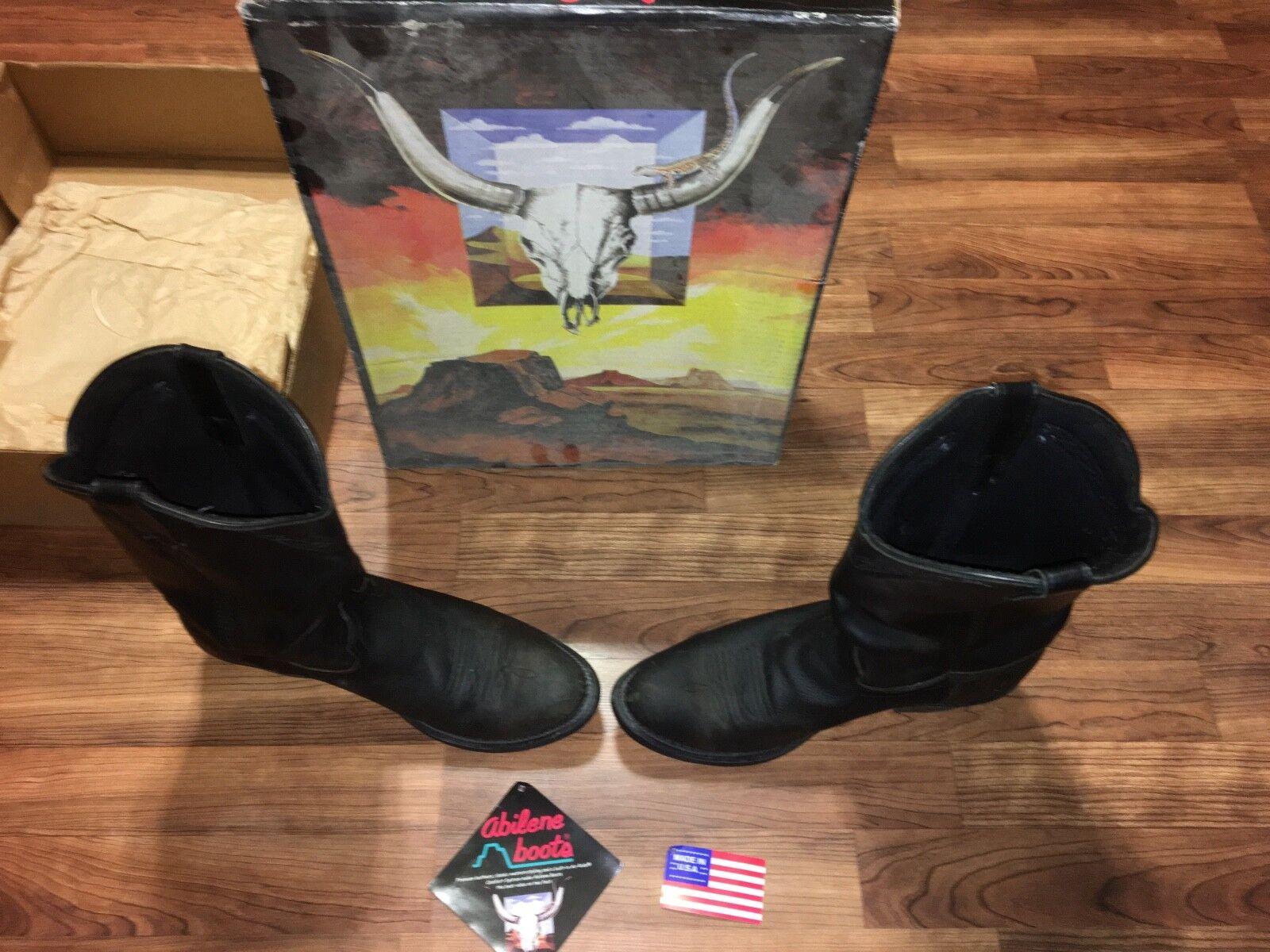 Abilene Men Cowboy Boots Size 13D