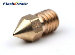 M6 Nozzle Extruder Hotend 0.25-1.0mm Brass Stainless Steel For 1.75mm/3mm Reprap