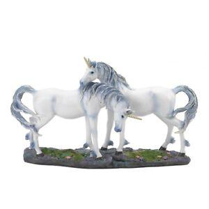 Unicorn Lovers Figurine Mythical Fantasy Horse Couple Statue