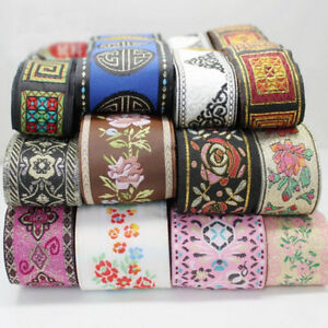 5-10-Yards-Retro-Chinese-Jacquard-Ribbon-Braid-Trim-Embroidery-Upholstery-Craft