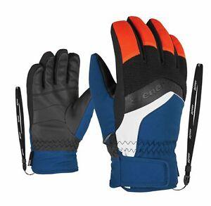 Ziener-Enfants-Ski-Gants-Labino-as-Glove-Bleu-Noir