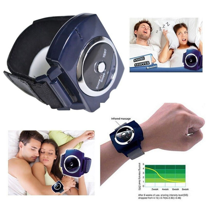 Snore Blocker Stopper Infrared Stop Snoring Wristband Help Sleeplessness 1