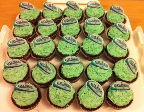 """Décoration 45mm 2 pouces 24 2 /""""ballon de rugby Comestibles Cupcake Toppers"""