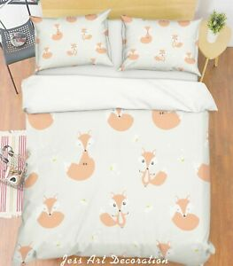 3D-Cartoon-Fox-Quilt-Cover-Duvet-Cover-Comforter-Cover-Single-Queen-King-18